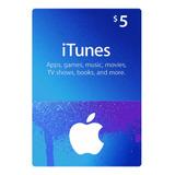 Tarjeta De Regalo Itunes (gift Card) 5 Usd / Región Usa