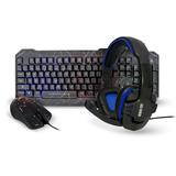 Kit Teclado Mouse Gamer Diadema Eagle Warrior Led Rgb Usb