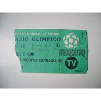 Campeonato Mundial De Futbol Mexico 1970 Boleto De Futbol