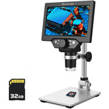 Microscopio Digital 108p Hd 1200x Con Pantalla Lcd De 7 PuLG