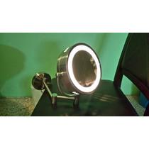 Espejo De Aumento Lujo Helvex 2 Vistas Con Luz
