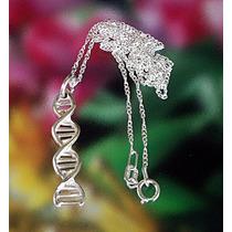 044695ade9a8 Cadena Con Dije De Adn Sciencia Vida Medicina Biología Plata en ...