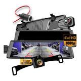 Retrovisor Dvr Camara De Reversa Vision Nocturna Touchscreen