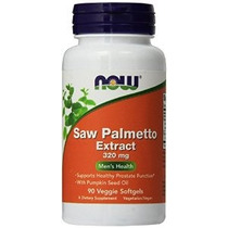 Saw Palmetto 320mg Extracto De Now Foods 90 Veg Softgel