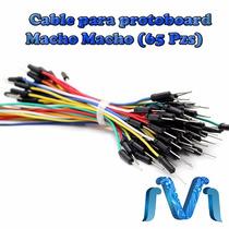 Cables Para Protoboard Dupont Macho Macho (65 Piezas)