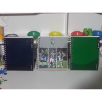 Libreta Agenda Personalizada Juventus Verde Y Azul 150 Hojas