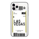 Funda Boleto D Avión Nueva York Los Angeles iPhone + Mica 9h