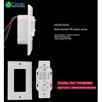 Sensor Interruptor Infrarrojo Pared Pir 110 Vac 1200 Watts