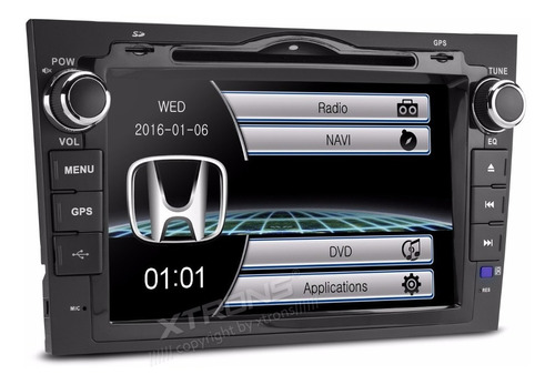 Auto Estereo Honda Crv 2007-11 Mirror Link Dvd Gps Bluetooth