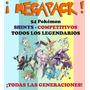 Pack Legendarios (shinys/competitivos) - Entrega Inmediata!