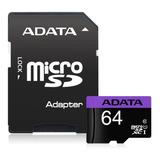 Memoria Micro Sd Hc Adata 64gb Uhs-i Clase 10
