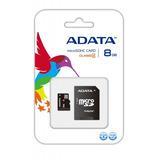 Memoria Adata Clase 4 Microsd 8gb + Adapatdor Sd