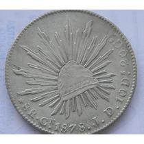 Moneda 8 Reales 1878 J D Culiacan Excelente Escasa