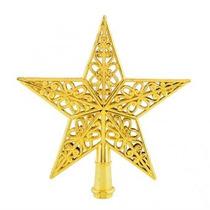 Oro Brillante Estrella De Navidad Árbol Decorativo Topper P