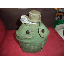Cantimplora Militar Con Funda Y Vaso De Aluminio