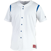 Jersey Para Beisbol Hombre Rawlings Botón Mock Faux Talla Xl