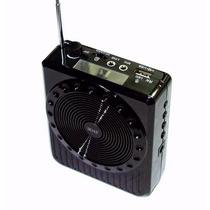 Megafono Altavoz Bocina Fm Micro Sd Usb Microfono Radio Aux