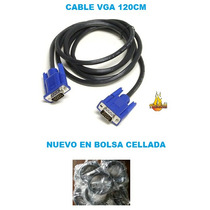 Cable Vga 120cm Para Monitor Lcd O Led En Bolsa Cellada