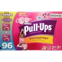 Huggies Pull-ups Girsl Training Pants Tamaño 2t-3t 96 Conde