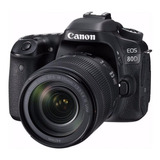 Canon  Eos 80d 18-135mm Is Usm Kit Dslr Negra