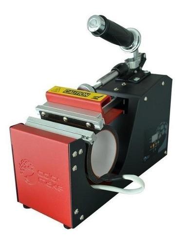 Plancha Sublimadora Semi-automática Colormake Cm22-mgpro11oz Negra Y Roja 110v