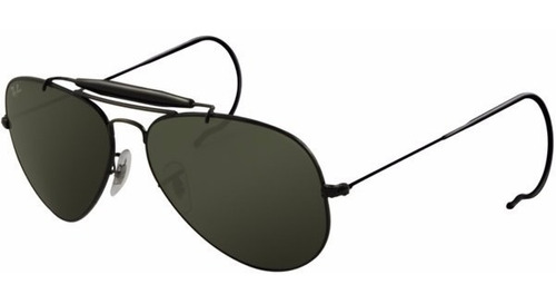zapatos deportivos c728b 74a4b Ray Ban Outdoorsman Rb3030 002/62 58mm Negros Cola De Rata ...