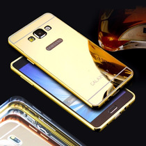 Funda Bumper Galaxy J5 Y J7 Aluminio Mica Acabado Espejo