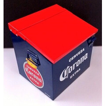 Hielera Corona Retro Cervezas 24 Botes O 20 Botellas
