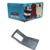 Osos Escandalosos We Bare Bears Cartera Tipo Piel En Vinil