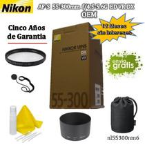Lente Nikon Af-s 55-300mm F/4.5-5.6g D700 D7100 D7200