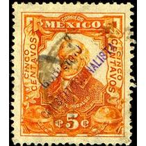 2533 Revolución Gomigráfo Tipo#2 Monterrey 5c Usados 1914