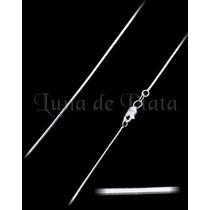 Lpcu003-40 Cadena Cola De Rata Diamant 1 Mm Plata .925 Taxco