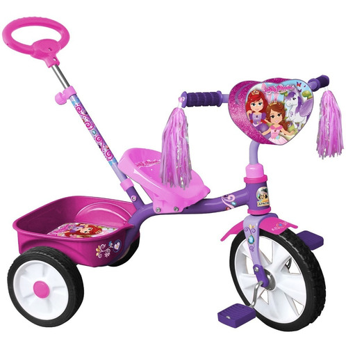 Triciclo Apache Princess Rodada 12 Cajuela Y Baston