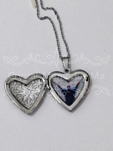 96b88822d0f4 Relicario Collar Dije Corazon Acero Inoxidable 1 Foto en venta en ...