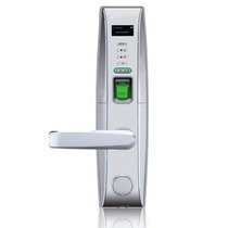 L4000pi - Cerradura Biometrica Plateada Izquierda/ Menu En P