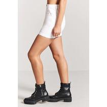 Forever 21 Falda Blanca De Mezclilla Algodon Corta 27 S-m en venta ... b58c94b7eb3
