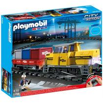 Playmobil 5258 Tren De Mercancias Radio Control !!! Sp0