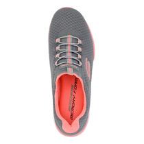 Tenis Skechers Para Dama 12980 Gris [ske208] en venta en