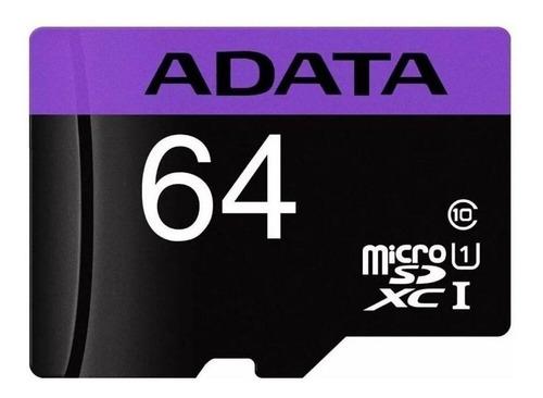 Tarjeta De Memoria Adata Ausdx64guicl10-ra1 Premier Con Adaptador Sd 64gb