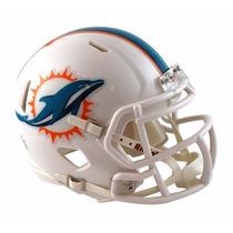 Casco Mini Speed Nfl Delfines Miami Dolphins Riddell