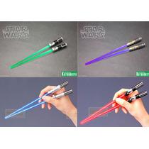 Star Wars Palillos Chinos Luz Sable Laser
