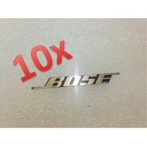 10 Emblemas Bose Originales Rejilla De Woofer Bocina Tweeter