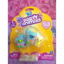 Fiesta De Animales Set Miniatura Pareja Con Disfraz Casita