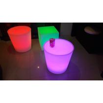 Puuf Redondo Mesa Iluminada Salas Lounge Led Envio Gratis