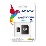 Memoria Adata Micro Sdhc 8gb Clase 4 C/adaptador