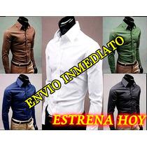 Camisas Hombre, Camisa Vestir Caballero, Slim Fit, Sexy