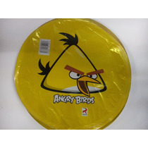 12 Globos Metalico 9 Pulg. Angry Birds Yellow Centro Mesa
