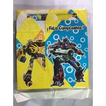 Cajas Dulcero Bolo Fiesta Transformers
