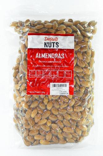 1 Kilo, Almendra Natural Excelente Calidad Almonds Nueces