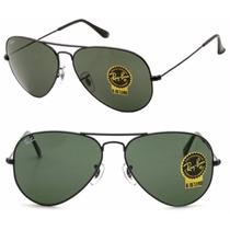 Gafas Ray Ban Negras Aviador 3026 Grandes Cristal G15 3025